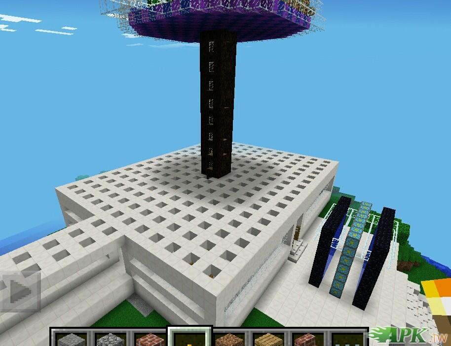 Minecraft PE地图有一栋房屋 水电梯