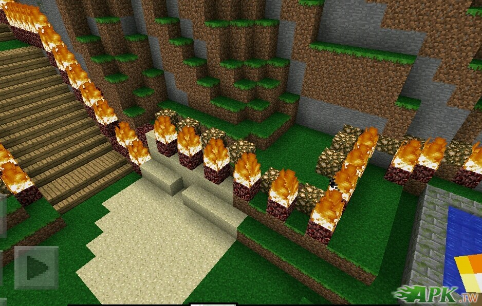Minecraft PE地图在山谷中的小屋 Android 游